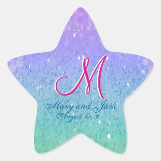 Purple Glitter Patio Lantern Confetti Glam Glow Star Sticker