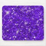 Purple Glitter Pattern Mouse Pad