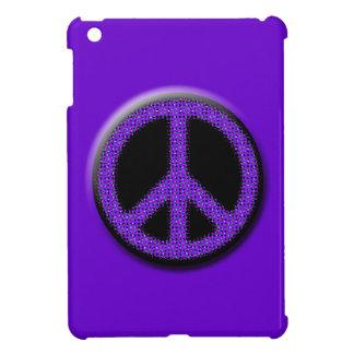 Purple Glitter Peace Sign iPad Mini Hard Case iPad Mini Covers
