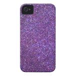 Purple glitter print iphone case Case-Mate iPhone 4 case