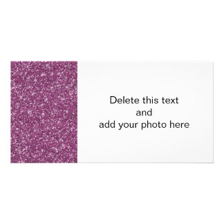 Purple Glitter Printed Card