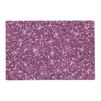 Purple Glitter Printed Placemat