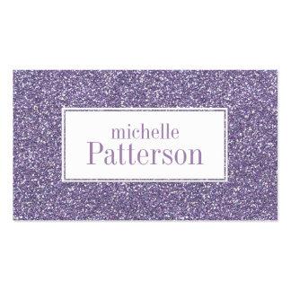 Purple Glitter Professional Business Cards