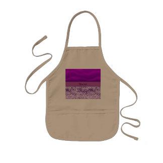 Purple Glitter & Sand Kids' Apron
