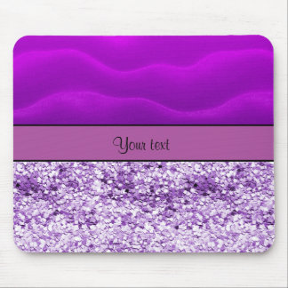 Purple Glitter & Sand Mouse Pad