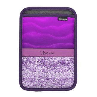 Purple Glitter & Sand Sleeve For iPad Mini