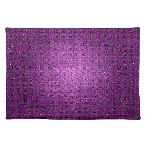 Dining table dining table mats designs - Purple Glitter Sequin Disco Glitz Pattern Placemat Zazzle