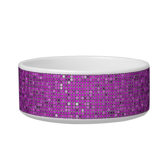 Purple Glitter Sequin Disco Glitz Pet Food Bowl
