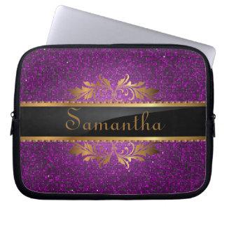 Purple Glitter Sequin Disco Glitz Protective Case