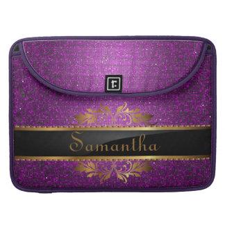 Purple Glitter Sequin MacBook Sleeve Computer Case Sleeves For MacBooks