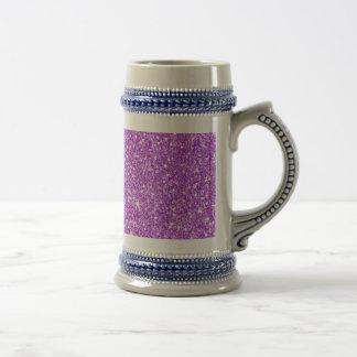Purple Glitter Shine Shiny Luxury Diamond Beer Stein