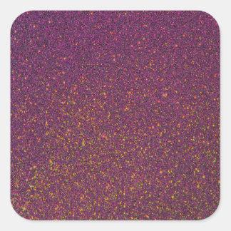 Purple Glitter Shiny Square Sticker