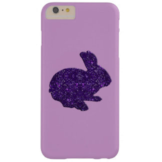 Purple Glitter Silhouette Bunny iPhone 6 Case