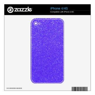 Purple glitter skin for iPhone 4