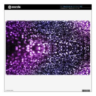 Purple Glitter Skins Decals For MacBook