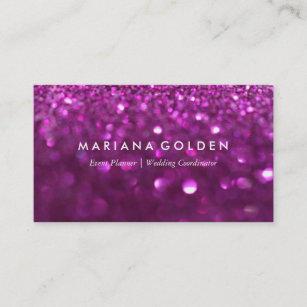 Sparkle business cards zazzle purple glitter sparkle business card on gold paper colourmoves