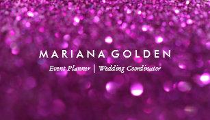 Sparkle glitter business cards zazzle purple glitter sparkle business card on gold paper colourmoves
