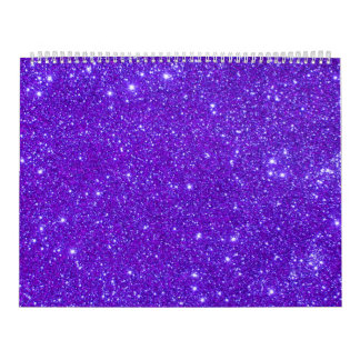 Purple Glitter Sparkle Custom Design Calendar