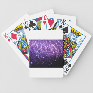 purple glitter sparkle glow shine happy bicycle playing cards
