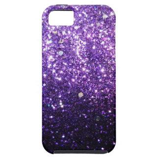 purple glitter sparkle glow shine happy iPhone SE/5/5s case