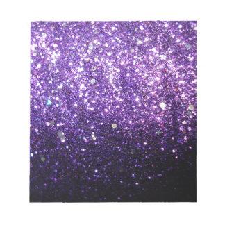 purple glitter sparkle glow shine happy note pad