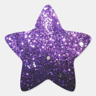 purple glitter sparkle glow shine happy star sticker