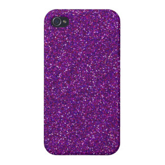 Purple Glitter Sparkle Graphic Art Pattern Design iPhone 4 Cover