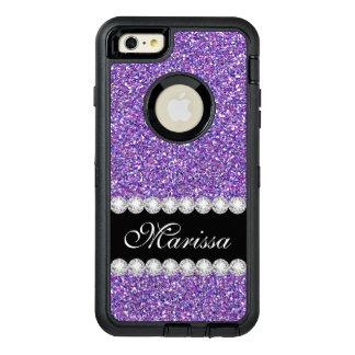 Purple Glitter Sparkles Modern Stylish OtterBox Defender iPhone Case