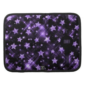 Purple Glitter Stars Planners