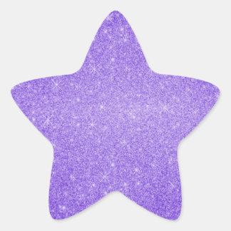 Purple glitter stars star sticker