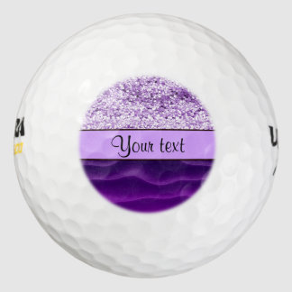 Purple Glitter & Wavy Sands Golf Balls