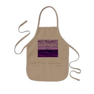 Purple Glitter & Wavy Sands Kids' Apron