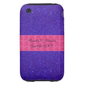 Purple glitter wedding favors tough iPhone 3 cases