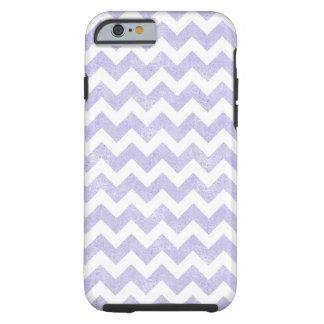 Purple Glitter White Chevron iPhone 6 Case