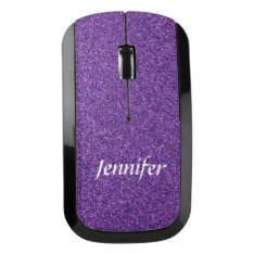 Purple Glitter Wireless Computer Mouse at Zazzle
