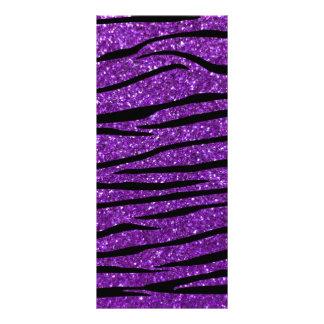 Purple glitter zebra stripes rack cards