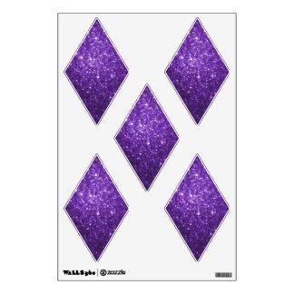 Purple Glittery Look Diamond: Wall Decals