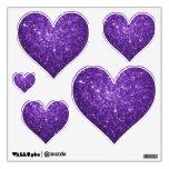 Purple Glittery Look Heart: Wall Decals