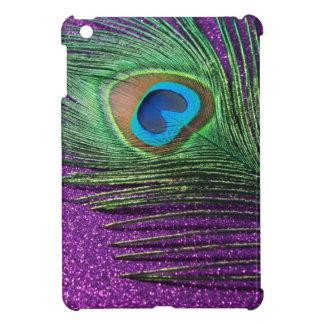 Purple Glittery Peacock Feather Still Life iPad Mini Case