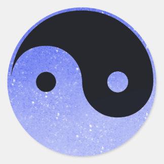 Purple Glitz Look Yin Yang Stickers