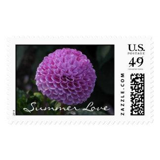 Purple Globe Dahlia Stamp