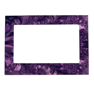 Purple Glory Design Magnetic Photo Frame