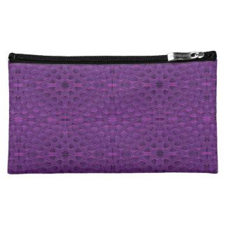 Purple Glory Snakeskin Inspired Pattern Cosmetic Bags