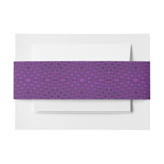 Purple Glory Snakeskin Inspired Pattern Invitation Belly Band