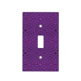 Purple Glory Snakeskin Inspired Pattern Light Switch Plate