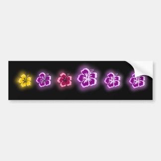 purple glow designs bumper sticker