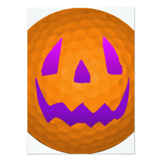 Purple Glow Halloween Golf Ball Card