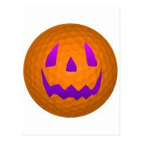 Purple Glow Halloween Golf Ball Postcard