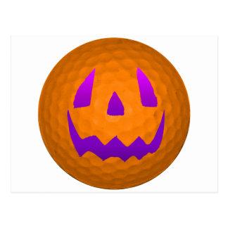 Purple Glow Halloween Golf Ball Post Cards