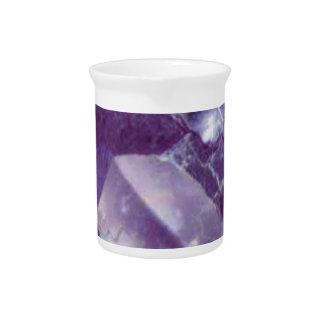 purple glow of stone pitcher
